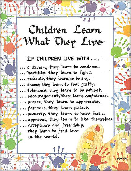 BLISSFUL ROOTS: Children Learn What They Live Printable